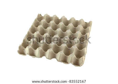 Paper package of egg container. - stock photo