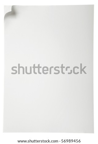 Paper page, copy space for your text. - stock photo