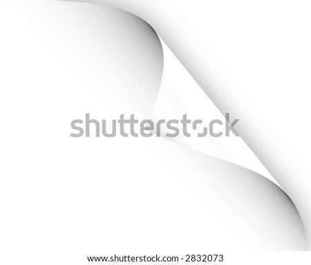 paper page curl - stock photo