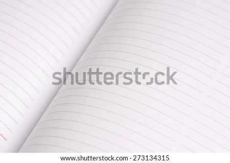 Paper page notebook - stock photo
