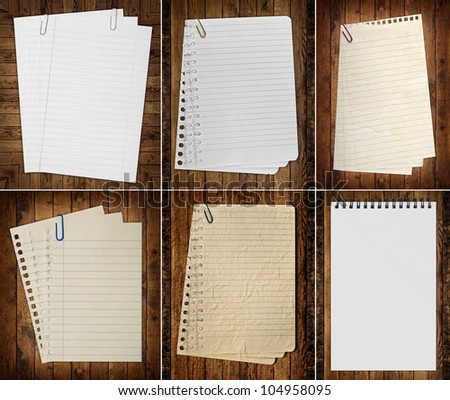 paper page notebook. textured isolated on the white backgrounds. - stock photo
