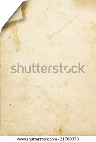 paper page with curl - stock photo
