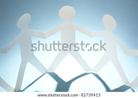 Paper people - stock photo