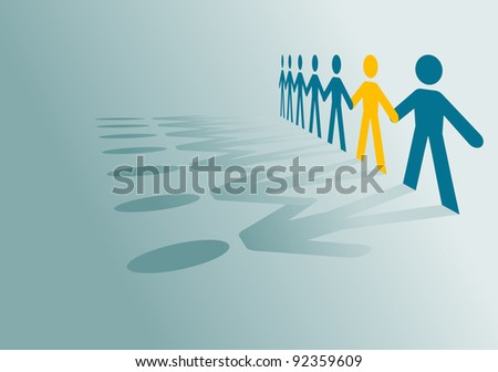 Paper peoples community for communication or partnership concept design. Vector version also available in gallery - stock photo