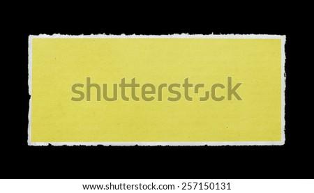 Paper piece - stock photo