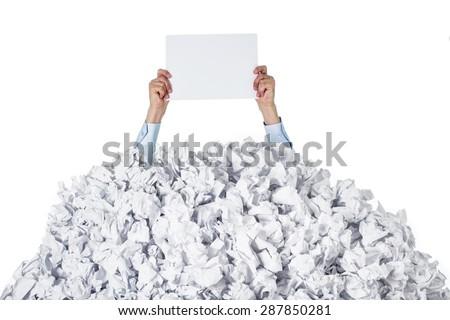 Paper, pile, money. - stock photo