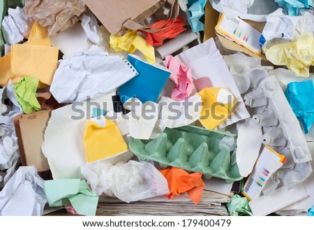 Paper prepared for recycling - stock photo