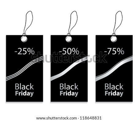 paper price tag for black friday - stock photo