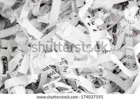 paper pulp, symbol photo for data destruction, documentation and legacy data - stock photo