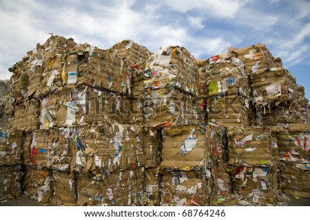 Paper recycling - stock photo