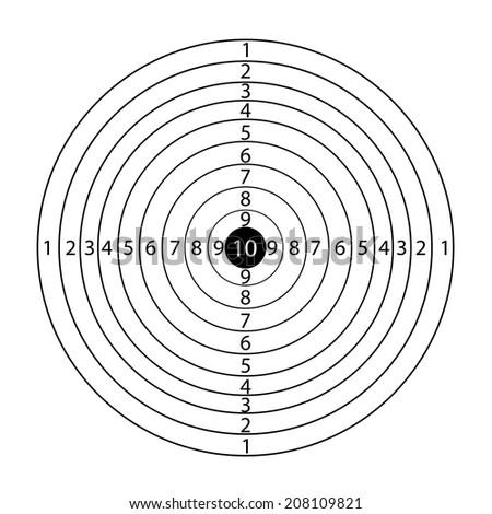 Paper rifle target - stock photo