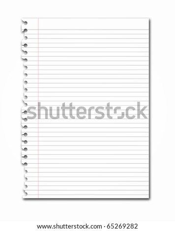 Paper Ripped off from notebook illustration - stock photo