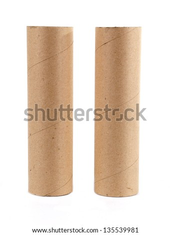 paper roll isolated on white background - stock photo