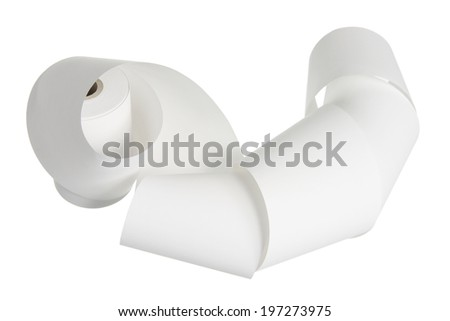Paper Roll on White Background