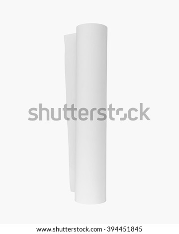 Paper roll. Paper roll isolated. Blank paper roll. Sticker roll. Sticker printing paper. Sticker roll isolated. Paper roll for print. Sticker print. Sticker tape. Sketch paper. Paper tube. Sticker - stock photo