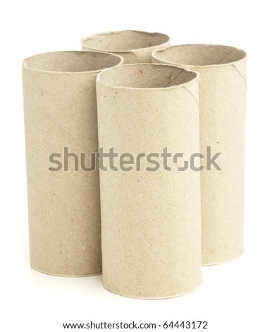 paper rolls isolated on a white background - stock photo