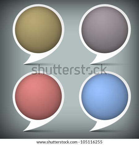 Paper round bubble for speech.Raster version - stock photo