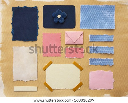 Paper scraps collection - stock photo