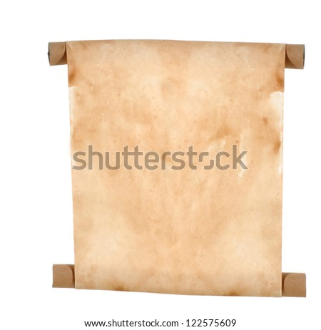 paper scroll - blank paper scroll isolated on white background