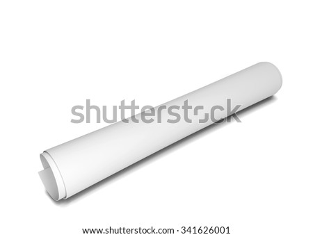 Paper scroll. 3d illustration isolated on white background