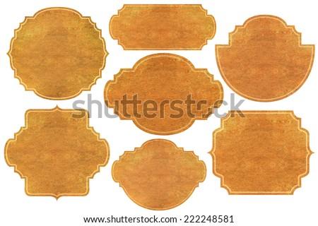 paper set: vintage labels  - stock photo