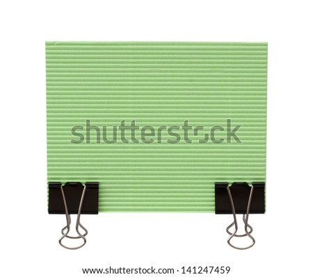 Paper sheet for letter with clips isolated on a white background - stock photo