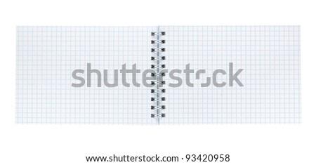 Paper sheet isolated on white background - stock photo