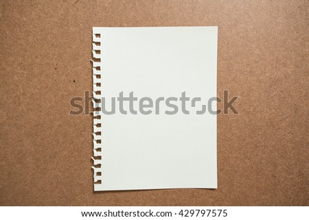 paper sheets on desk background - stock photo