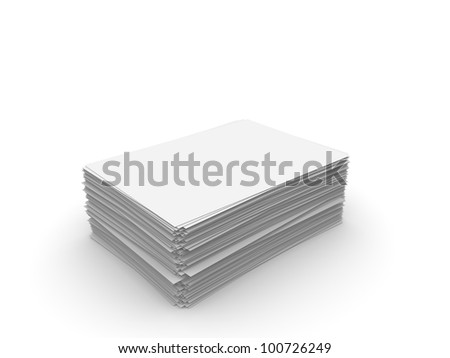 Paper sheets on white background