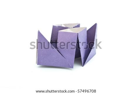 Paper ship - stock photo
