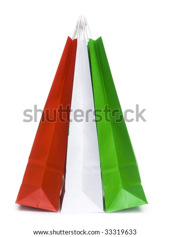 Paper shopping bags - stock photo