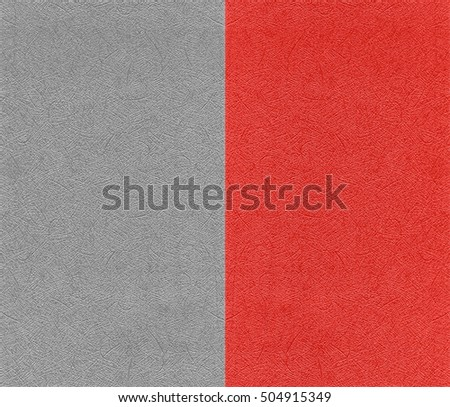Paper silver and red metallic texture and background