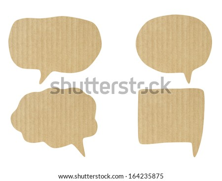 Paper Speech Bubble , Clipping Path