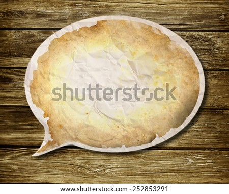 Paper speech bubble - round - stock photo