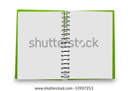 paper spiral book isolated on white - stock photo