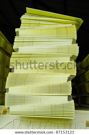 paper stack - stock photo