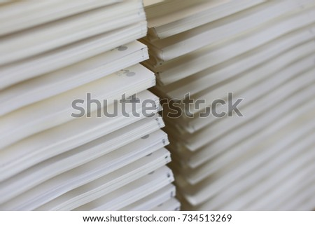 paper stack for making notebook