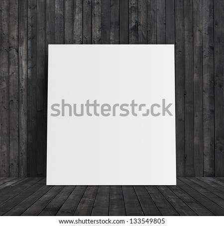 paper stand and wooden room