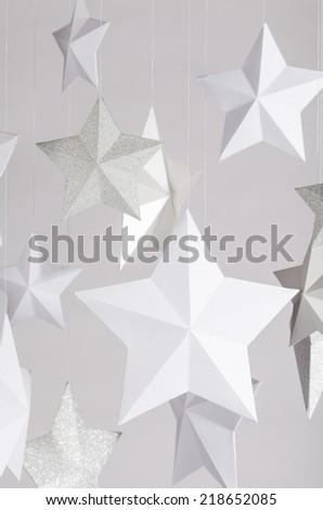 paper stars - stock photo