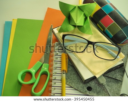 Paper stationery for schools and offices.