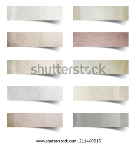 Paper stick isolated on white background, Objects with clipping paths for design work - stock photo