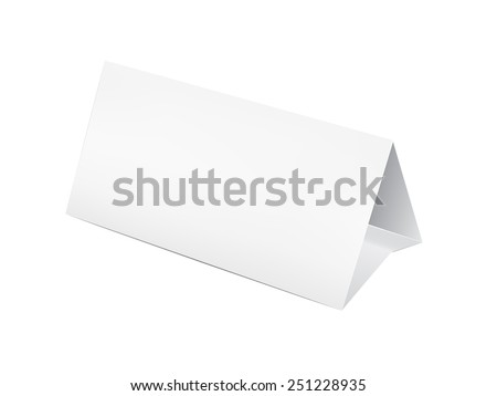 Paper table card, sign template  - stock photo