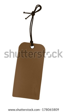 paper tag   - stock photo