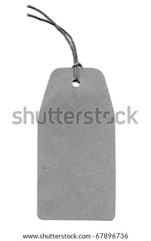 Paper tag label isolated over white background