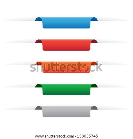 Paper tag labels. Vector available.