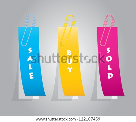 Paper tags - stock photo