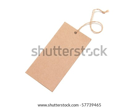 Paper Tags Isolated On White Background - stock photo