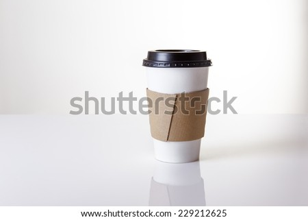 paper take away cup shot in the studio - stock photo