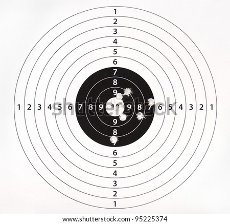 Paper target for shooting practice - stock photo