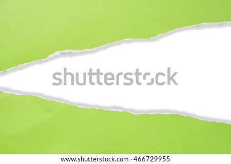 Paper Tear, Green, clipping path